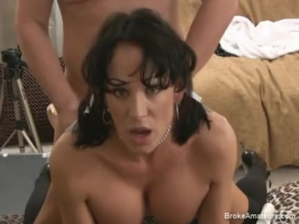 Brunette Facial expression POV during Anal