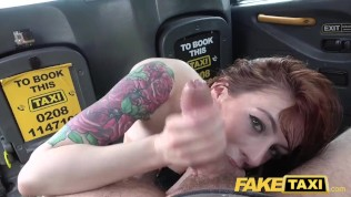 Fake Taxi Horny redhead brunette takes dick balls deep in her arse