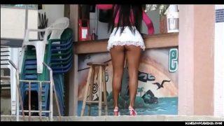 Candid – Round Brazilian Miniskirt with No Undies