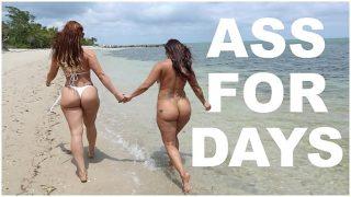 Latina Lesbians Spicy J & Miss Raquel's Asstastic Day At The Beach