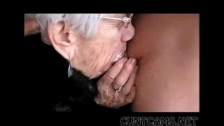 Granny Sucks Boys Cock for Her Birthday