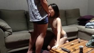 Chinese kitty asks for her master's dick