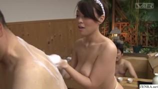 JAV super rare big breast bathhouse full body service