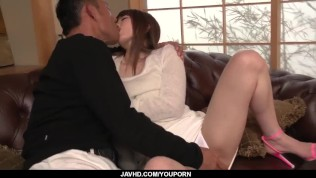 Top Japanese porn on the couch