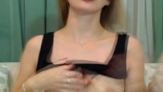 Cute Blonde Teen show his hot body live