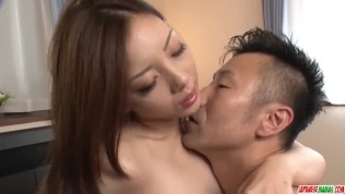 Maki Mizusawa sure loves holding the cock in her