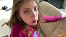 Did you see my scrunchy? – POV real sex with cute teen