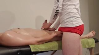 Fucking an asian guy after an erotic massage